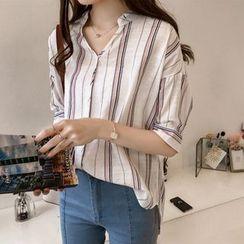 Vinales - Elbow-Sleeve Stripe Shirt