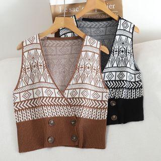 Pinatra - Jacquard Knit Vest