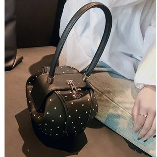 Aishang - Dotted Faux Leather Hand Bag