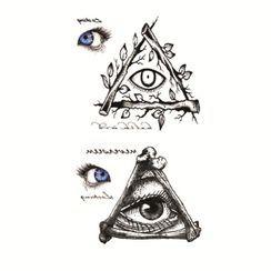 Mauvola - Triangle Shape Print Waterproof Temporary Tattoo