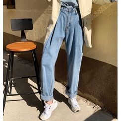 Tanee - Loose-Fit Straight-Leg Jeans