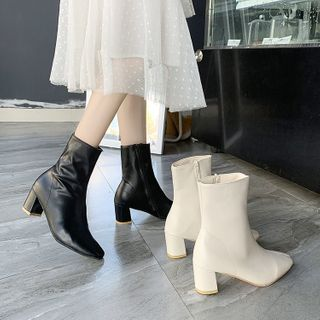 Vindler - Block Heel Short Boots