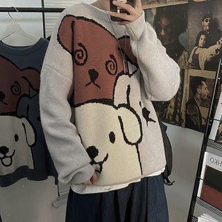 Oakjam - Dog Print Sweater