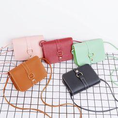 Hanaburg - Plain Flap Crossbody Bag
