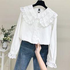 Tiny Times - 蕾丝边衬衫