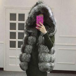 KOTEN - Faux Fur Hooded Vest