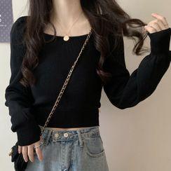 Magimomo - Plain Cropped Sweater