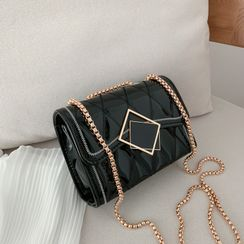Daelynn - Quilted Faux Leather Shoulder Bag