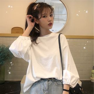 Iribe - 纯色长袖T裇