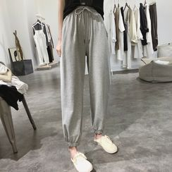 Grami - Elastic Waist Jogger Pants