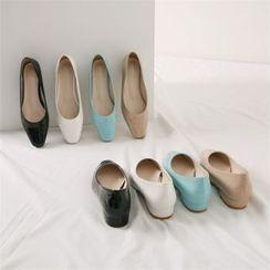 Wifky - Square-Toe Pastel-Tone Flats