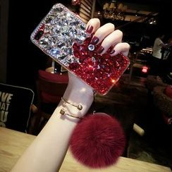 Chian - Embellished Bobble Mobile Case - iPhone X / 8 / 8 Plus / 7 / 7 Plus / 6s / 6s Plus