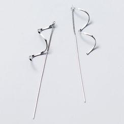 A'ROCH - 925純銀螺旋穿線耳環