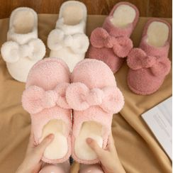 EMERY.V - Set Of 2: Couple Matching Fleece Home Slippers
