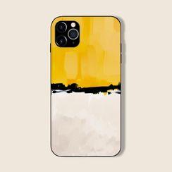 Midnight Lotus - Colour Block Mobile Case - iPhone 11 Pro Max / 11 Pro / 11 / XS Max / XS / XR / X / 8 / 8 Plus / 7 / 7 Plus / 6s / 6s Plus