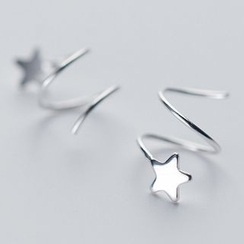 A'ROCH - 925 Sterling Silver Star Swirl Earrings