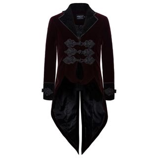 Sheck - Frog Buttoned High Low Coat