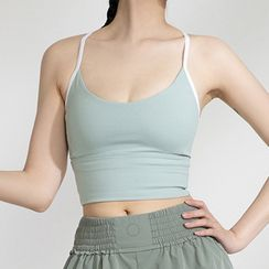 Santi - Cropped Sports Camisole Top
