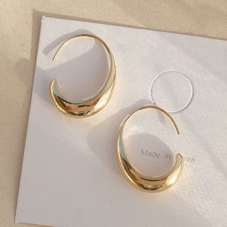 Covette - 14K Gold Plated Polished Hoop Earring