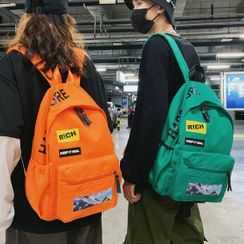 SUNMAN - Letter Print Backpack