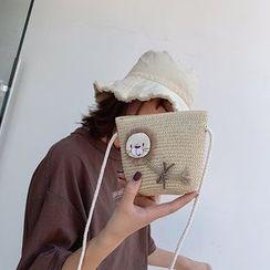 OLGALOG - Lion Straw Crossbody Bag