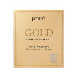 PETITFEE - Gold Hydrogel Mask Pack 5pcs