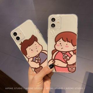 Huella - 胖嘟嘟情侶手機殼For iPhone SE / 7 / 7 Plus / 8 / 8 Plus / X / XS / XR / XS Max / 11 / 11 Pro / 12 Mini / 12 / 12 Pro / 12 Pro Max