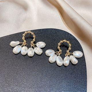 LIVSIA - Faux Pearl Fringed Earring