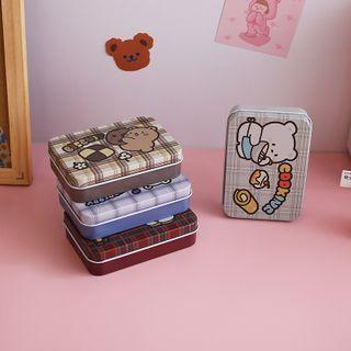 Chimi Chimi - Bear Print Metal Small Storage Box