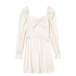 JIN STUDIOS - Long-Sleeve Plain Dress