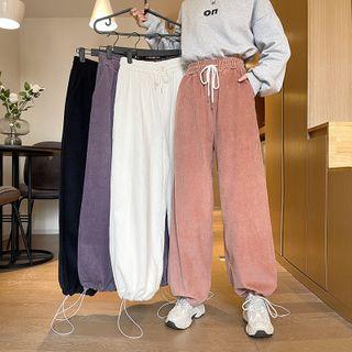 Sisyphi - Drawstring Corduroy Pants
