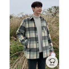 JOGUNSHOP - Wool Blend Boxy Checked Shirt