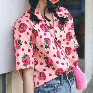 Glotto - 短袖水果印花衬衫