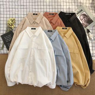 Gonzalito - Long-Sleeve Plain Shirt