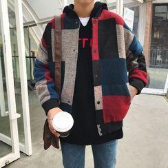 Aozora - 拼色棒球夹克