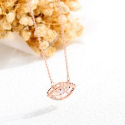 BELEC - Fashion Personality Plated Rose Gold Devil's Eye Necklace with Cubic Zircon