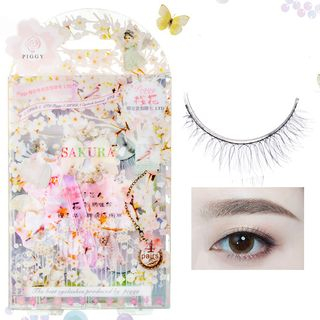 Piggy House(ピギーハウス) - False Eyelashes (4 Pairs) #Sakura