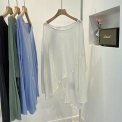 MODUO - Long-Sleeve Splited T-Shirt