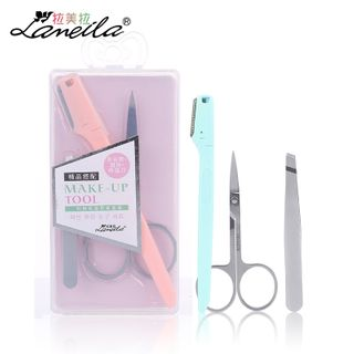 Togtto - Set: Stainless Steel Eyebrow Scissors + Razor + Tweezers