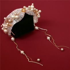 First Impression - Wedding Faux Pearl Headband