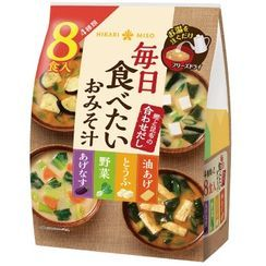 Hikari Miso - 4 Types Freeze Dried Mix Miso Soup Bag (Pack of 8)