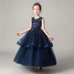 Doveark - Kids A-line Party Gown