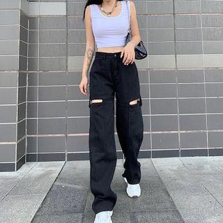 Sosana - 做旧直身牛仔裤