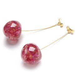 Cv Plus Design - Resin Cherry Dangle Earring