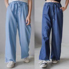 Cuckoo - Kids Wide-Leg Jeans / Short-Sleeve T-Shirt