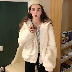 Fabricino - Furry Hooded Jacket