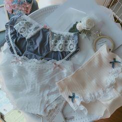 Ifish House - Set of 3: Lace Trim Panties
