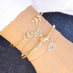 B.muse - Set of 4: Alloy Bracelet (assorted designs)