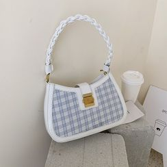 Skyglow - Woven Strap Panel Shoulder Bag