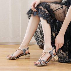 Shoes Galore(シューズガロア) - Block-Heel Sandals